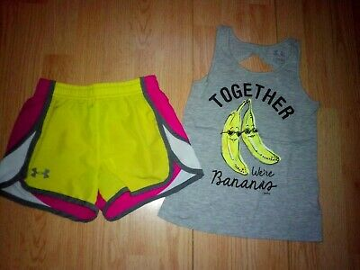 Justice & Under Armour 2 Piece Girls Outfit Size Ysm Youth Small 7