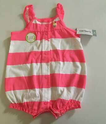 NWT CARTER/'S BABY GIRL ROMPER/&PANTS 3PC SET 9MONTH WHITE//PINK