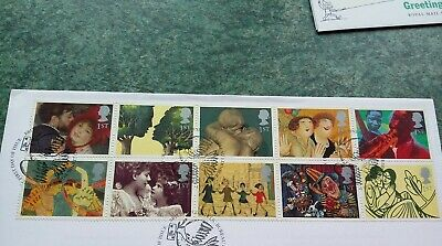 Gb 1995 Fine Used Set Of 10 Stamps S G 1858-67 Greetings  Gb20/041