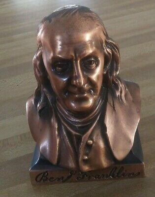-A.c.r. Limited- Ben Franklin Copper Coin Bank. Presidential Collector!