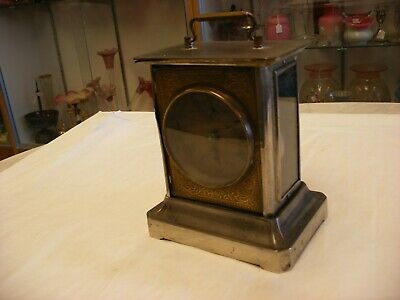 Antique Music Box Carriage Clock - for parts or repair -  As-is!!