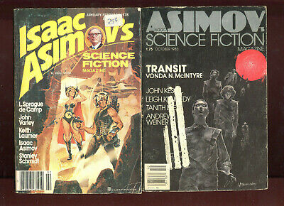 Isaac Asimov's Science Fiction Magazine 8 Lot 1978 1983 1984 1986 1992 Pohl