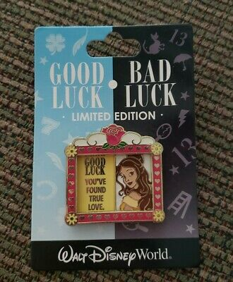New Disney Pin Good Luck Bad Luck Bambi Skunk Flower Limited Edition 1000 April