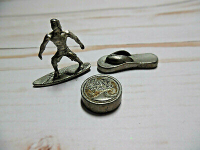 MONOPOLY SPARE PARTS:10 Metal Tokens Hasbro 2001 List 50 2nd List 29