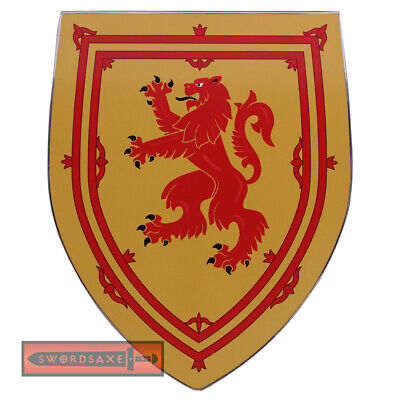 Scotland Robert the Bruce Rampant Lion Coat of Arms Medieval Wooden Shield Decor