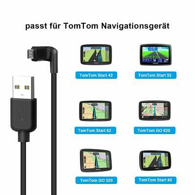 TomTom Data Transfer Sync Charger Cable Right Angle MICRO USB Lead for GO START
