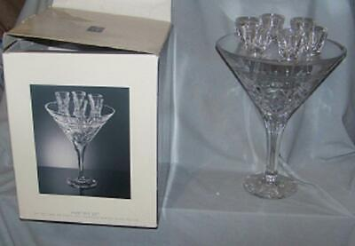 very unusual oversize martini glass tabletop decor holds 6 party shot glasses.