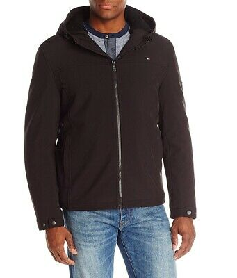 Tommy Hilfiger Mens Jacket Brown Size 2XL Soft Shell Sherpa Lining $145 378