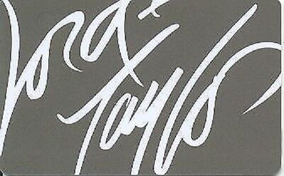 Lord & Taylor White on Gray Grey Signature Logo 2008 Gift Card Collectible