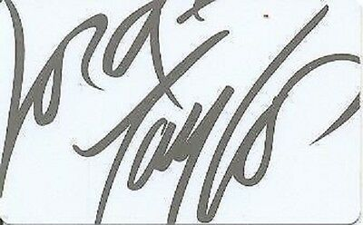 Lord & Taylor Gray Grey on White Signature Logo 2008 Gift Card Collectible