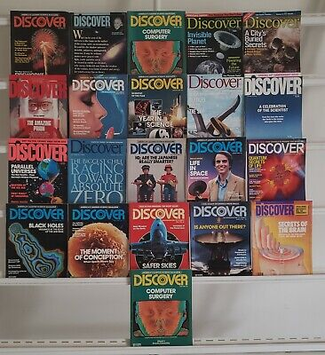 Discover 1980's 1990's 2000's Magazines 21 Magazine Book Lot Collection Set Box