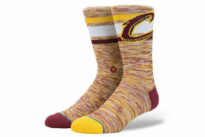 Stance Mens Socks Red Yellow Size Large L Athletic NBA Cleveland Cavaliers 617