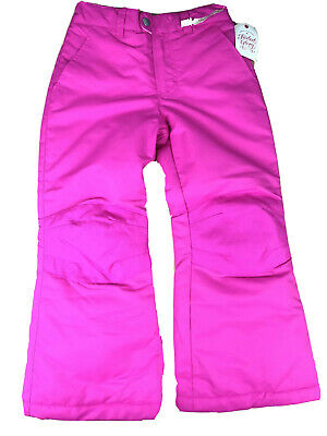 NWT Girls Faded Glory Hot Pink Snow Pants Size Small Snowboard Ski