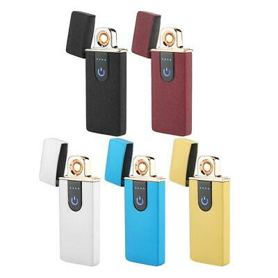 Touch Sensor LED USB Rechargeable Electric Windproof Cigarette Lighter Gift