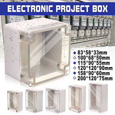 Waterproof Clear Cover Electronic Project Box Enclosure Case Junction DIY  //