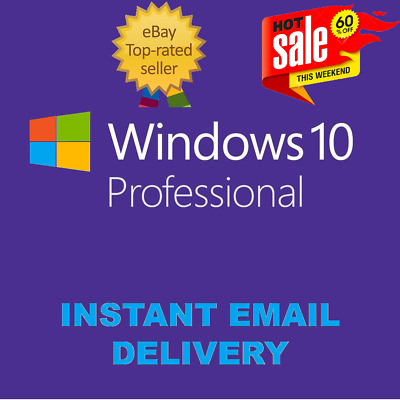Windows 10 Pro Professional Genuine License Key 🔑 Instant Delivery Worldwide  ,