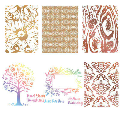 Abstract Metal Hot Foil Plate Stencil Scrapbooking Paper Card Crafts Embossing