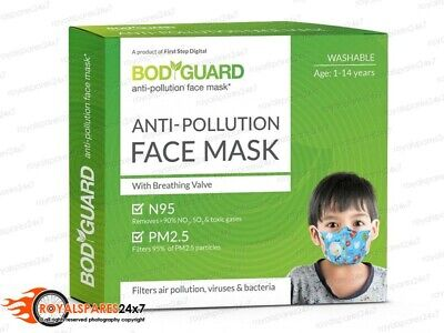 BodyGuard Reusable Anti Pollution Face Mask N95 Filtration PM2.5 Particles