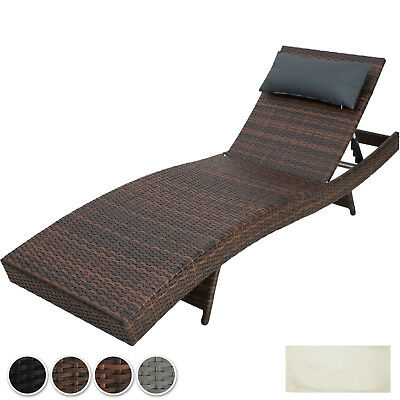 Rattan Sun Lounger Day Bed Recliner Garden Patio Balcony Furniture Outdoor new