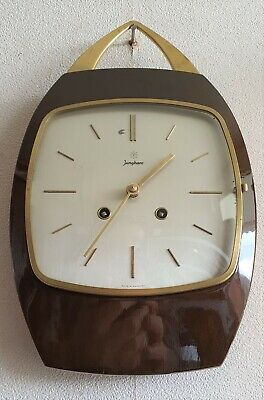 Junghans Wall Clock German Vintage Kitchen Clock Bim Bam Sound Silent Option