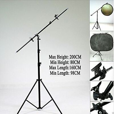 Reflector Holder Boom Arm Collapsible Light Stand 2M Photography Studio Tripod