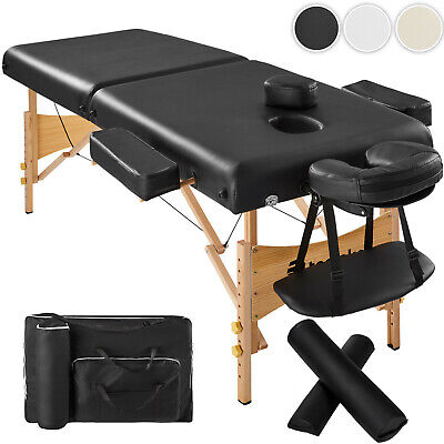 Adjustable Portable Folding Massage Table Bed Therapy Beauty 7,5 cm + 2 Pillows