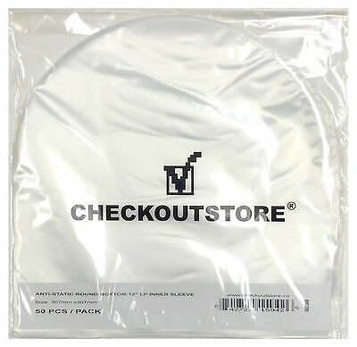 "Anti Static Round Bottom Semi-transparent for 12"" Vinyl LP (Inner Sleeves)"
