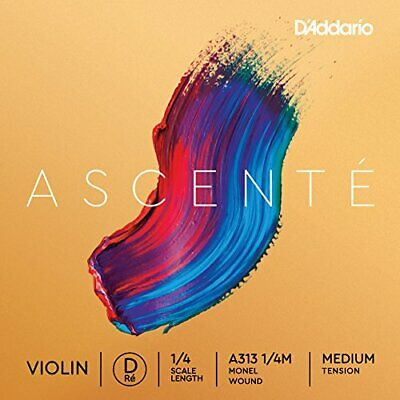 2056361-D'Addario Ascenté - Corda Re per violino, scala 1/4, tensione media
