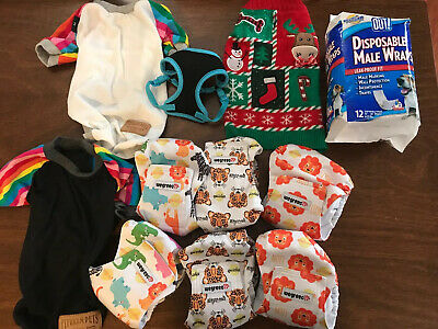 Male Dog XS Small Medium Puppy Belly Band Wraps Washable Diapers Shirts Harness