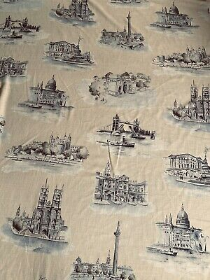 Seaside Nautical Icons white on dark red fabric 1 metre 100/% Cotton CTS201-03