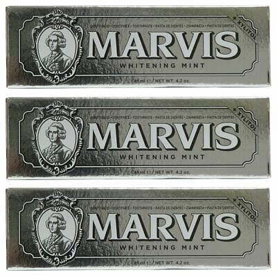 Marvis Toothpaste Whitening Mint 85ml x 3 Triple Pack Deal UK STOCKIST