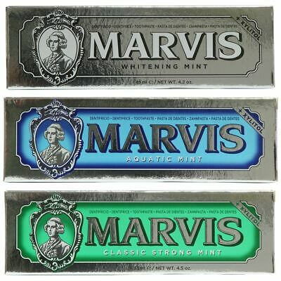 Marvis Triple Set - Aquatic Mint, Whitening Mint & Strong Mint UK STOCKIST