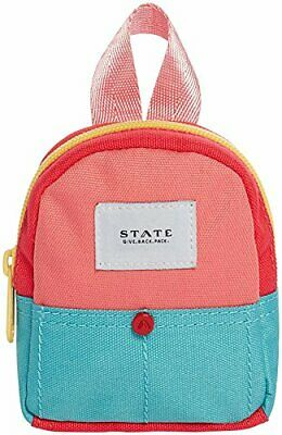 STATE Bags Boys' Coney Island Kane Key Chain (no size Coral/Mint)