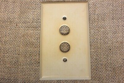 Old single push button Switch Plate Antique White color paint vintage 1900's USA