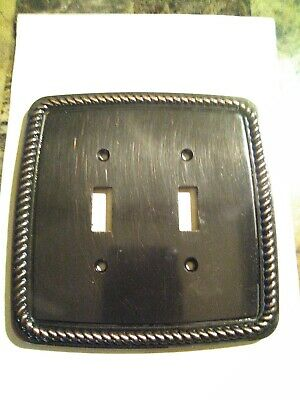2005 LHMC Victorian Style Double Light Switch Backbackplate Cover Braided Trim
