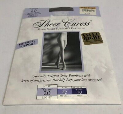 Vintage Worthington Pantyhose Queen Short  Sheer Caress 20  Taupe 41 New in Pkg.