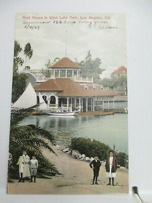 1907 Boat House In West Lake Park, Los Angeles, California, Ca Calif, Not Posted