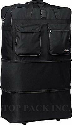 """30"""" Rolling Wheeled Duffle Bag Spinner Suitcase Luggage Expandable (30 Inch,"""