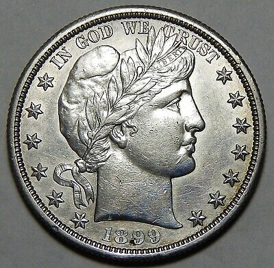 1899-S About Uncirculated Barber Half Dollar ~ Wg48