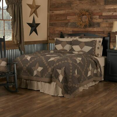 Country Primitive Rustic BRADFORD STAR Quilted Patchwork Bedding Collection