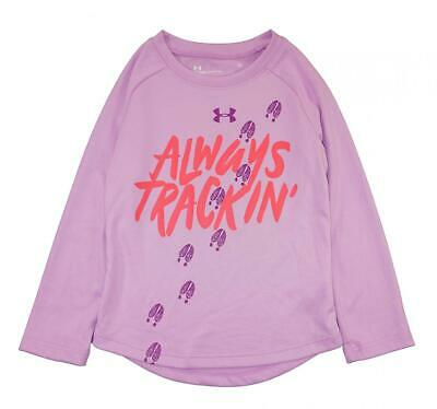 Under Armour Girls Purple Always Tracking Top Size 4 $24.99