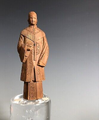Chinese Antique Carving Figurines Woman Statue