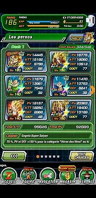 compte dokkan battle global