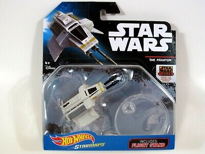 Hot Wheels Star Wars THE PHANTOM Rebels Animated Starships with Flight Stand