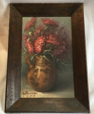 Signed Still Life Oil Painting Listed ? Mexican Modernist Artist Mexico 1974