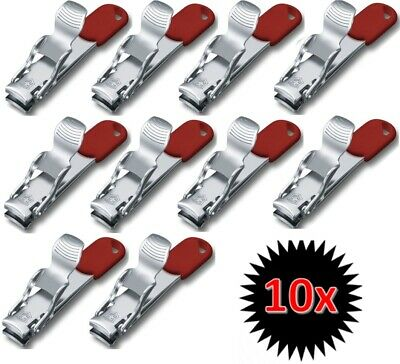 Victorinox Swiss Army Red Multi Nail Clipper Nail File Stainless 10Set 8.2050.B1