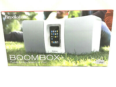 Brookstone Boombox Portable Music System for iPod 623405