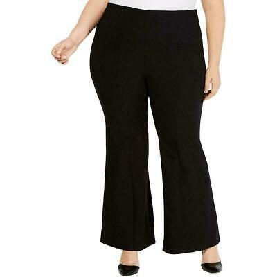 INC Womens Pants Black Size 20W Plus Wide Leg Seamed Career Stretch $89 443