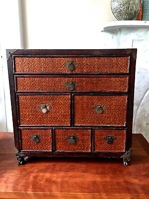 Antique Japanese Lacquer Kodansu Tea/Apothecary Cabinet~Claw feet