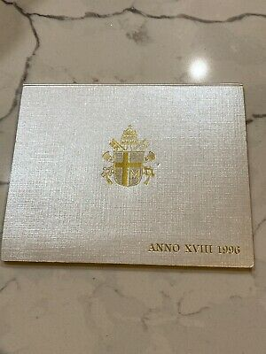 1996 Vatican (Italy) rare complete set coins UNC with silver in official box
